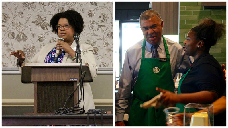 State Sen. Maria Chappelle-Nadal, D-University City, and Congressman Lacy Clay, D-St. Louis