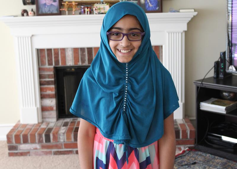Younger children, like 11-year-old Tanya Raja, don't have to fast during the month of Ramadan like older Muslims do, but many start practicing at an early age.