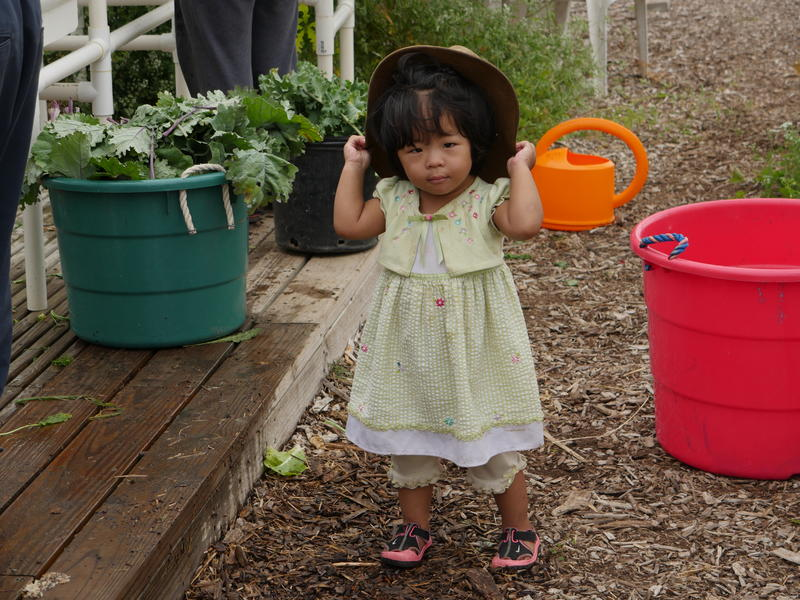 New Americans often bring their families to the farms with them to help out...or play with the buckets.