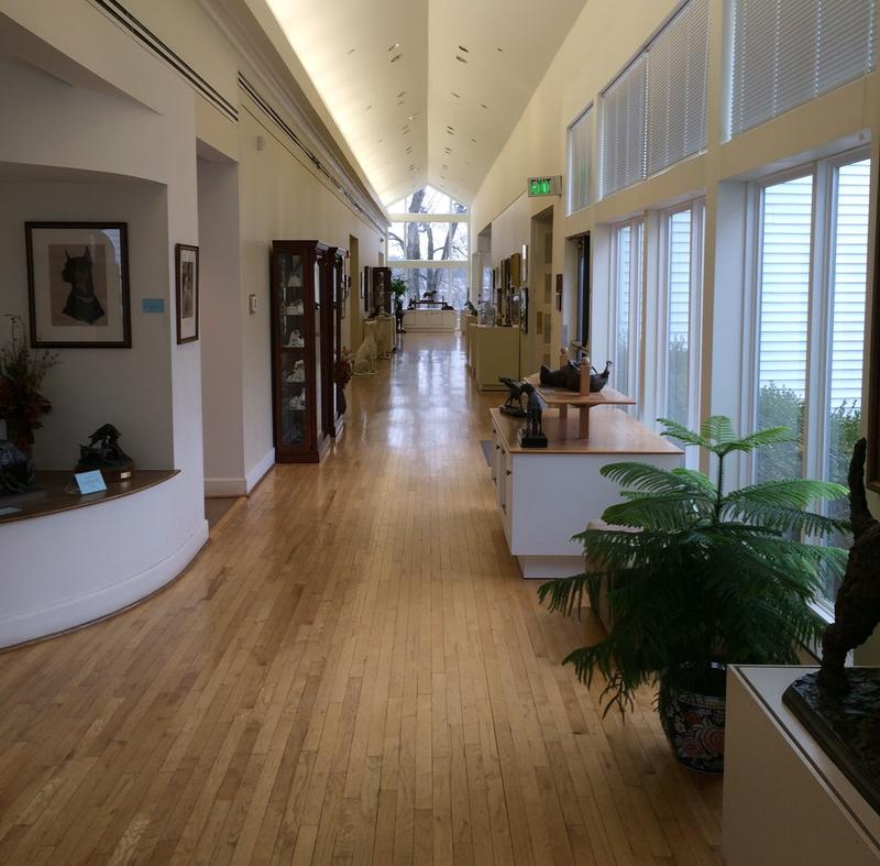 A view inside the Museum of the Dog.