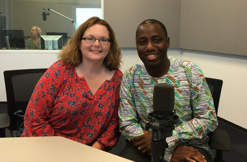 Edem and Pam Dzunu work in the Office of International Students and Scholars at Washington University.