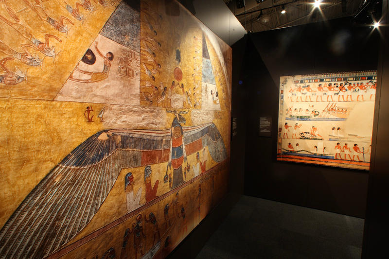 Hieroglyphics are just one element of ancient Egypt explained in the exhibit.