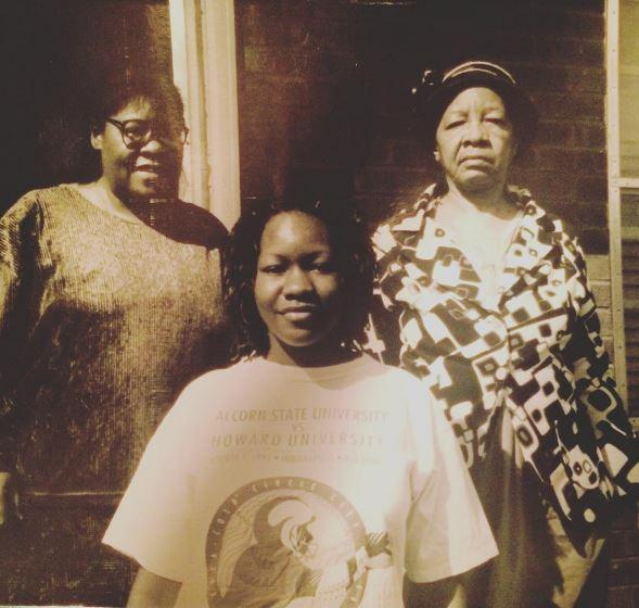 Treasure Shields Redmond, her mother Elsie Lee Shields, and her grandmother Mary Shields. Meridian, Mississippi 1995