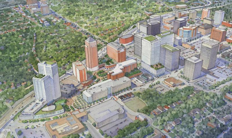 Rendering of Centene's expansion proposal in Clayton