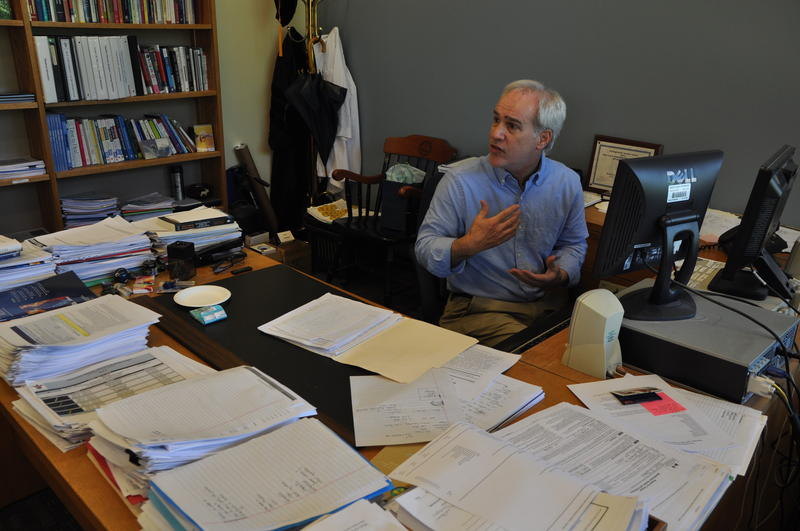 Dr. Stuart Slavin, associate dean for curriculum at Saint Louis University's School of Medicine, in his office.