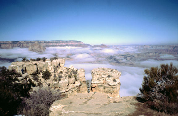 Jo Schaper shared this photo of a Grand Canyon December cloud inversion.
