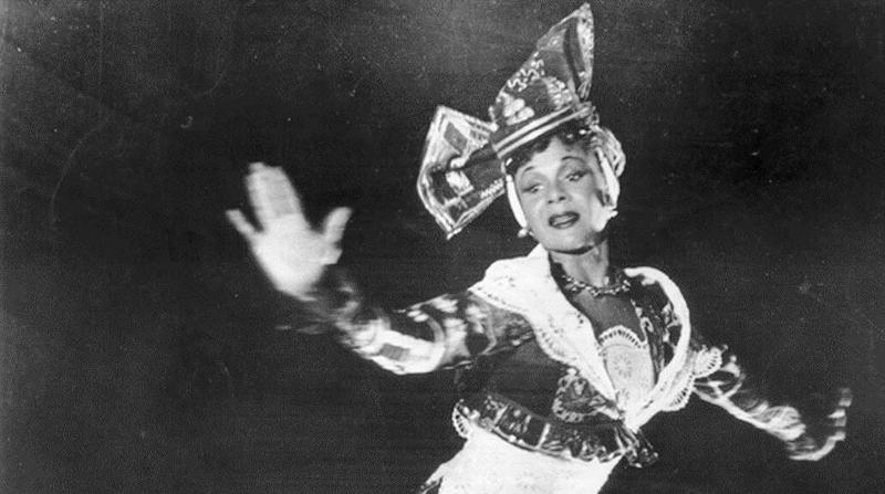 Detail of Katherine Dunham in Choros, undated