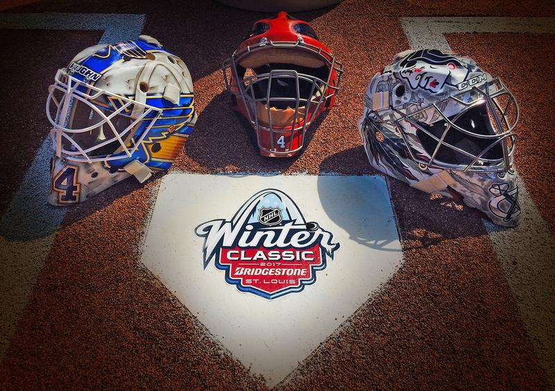 Goalie masks and homeplate