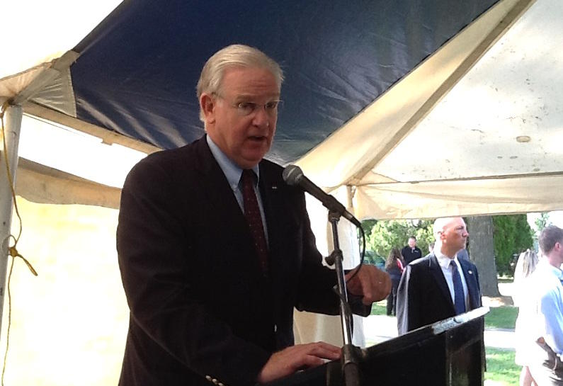 Gov. Jay Nixon defends several vetoes in anticipation of the legislature's attempts to override them. at state fair, aug 18 2016