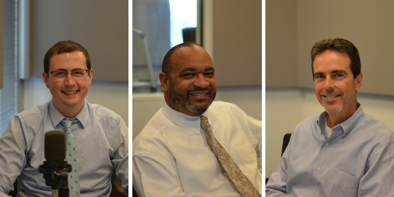 Alex Fennoy, Paul Woodruff and Mike O'Brien discussed banking resources for under-resourced people on Tuesday's