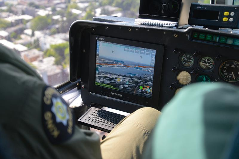 ARS screen in a helicopter