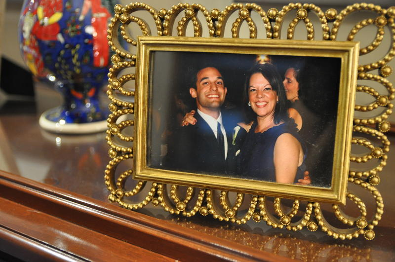 Kevin Dietl, left, poses with his mother in a family photograph.