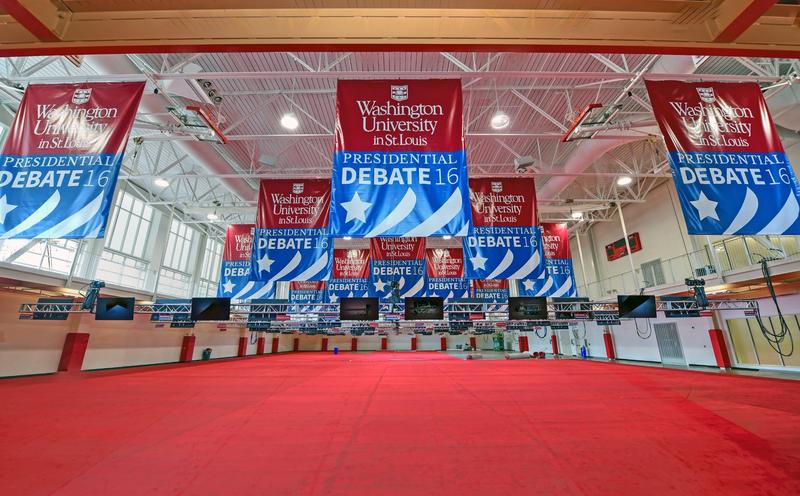 September 17, 2016 - Media Center banners go up and carpet is installed, Washington University in St. Louis