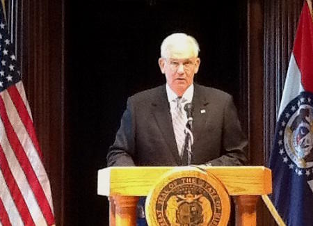 Gov. Jay Nixon announces $57 million in temporary budget cuts one day after the legislature overrode vetoes of two tax break bills.