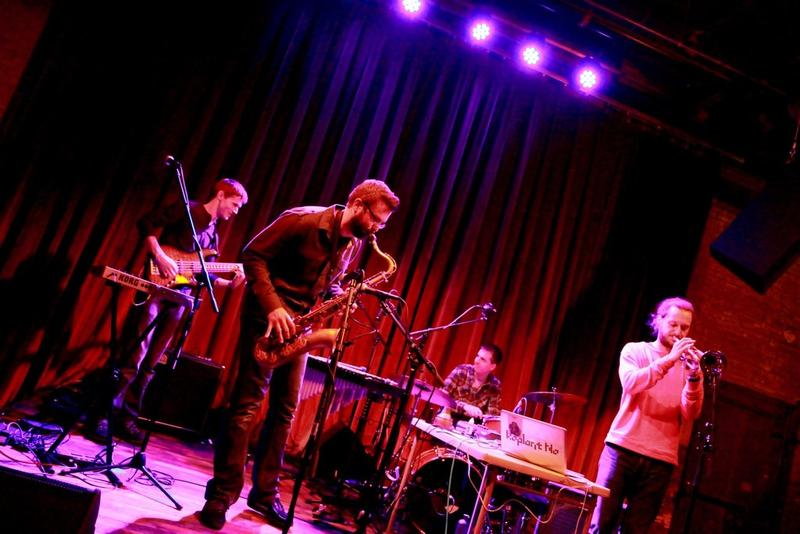 The jazz-electronica group Koplant No emerged several years ago at the University of Iowa.