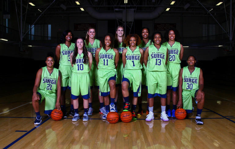 The 2016 St. Louis Surge women's professional basketball team.