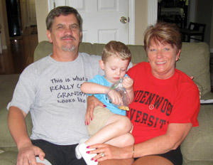 Kevin and Linda Boyer with their grandson Trenton.