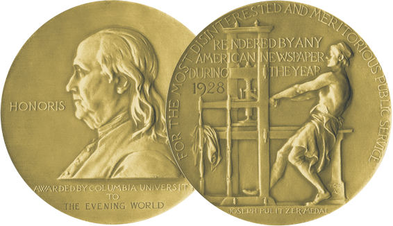The Pulitzer Prize medal.