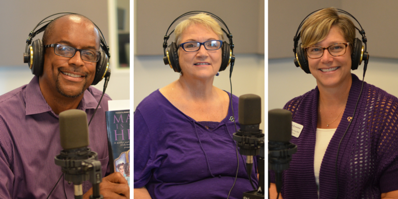 "Norris Roberts,  Lonni Schicker and Stephanie Rohlfs-Young discussed Alzheimer's disease and caregiving on ""St. Louis on the Air."""