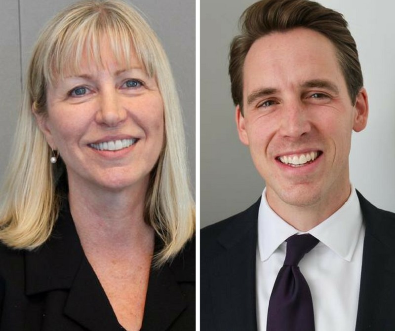 Teresa Hensley and Josh Hawley are the Democratic and Republican candidates for Missouri Attorney General.