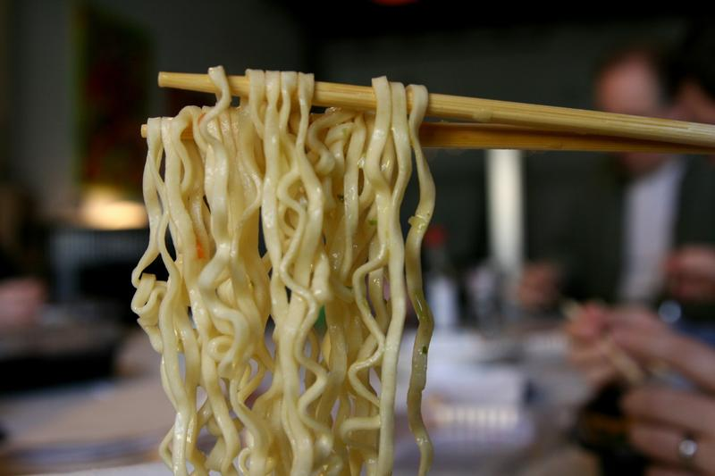 A photo of ramen noodles.