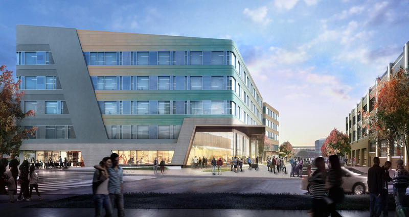 A new innovation hall and tech/lab building will be built into the current Cortex district.
