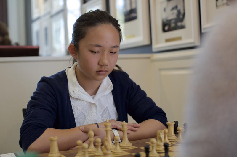 Annie Wang at the 2015 U.S. Women's Chess Championships