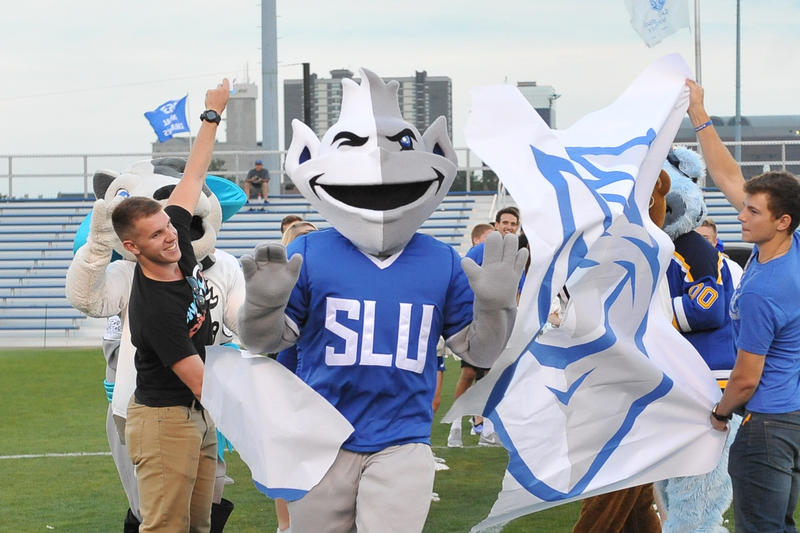 The new Billiken mascot introduced in September 2016.