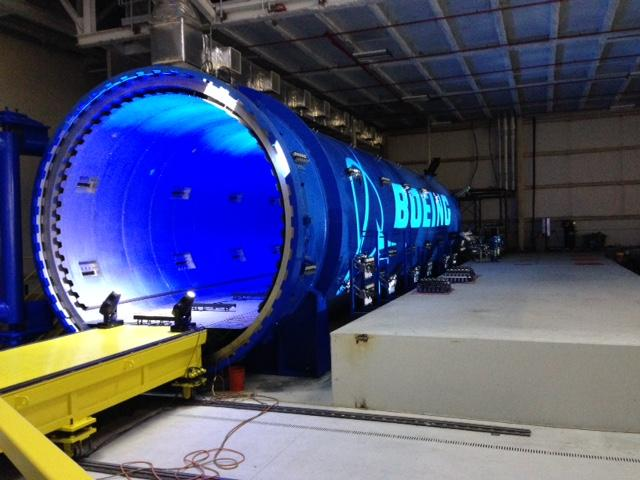 Autoclave at new Boeing commerical airline parts facility in St. Louis