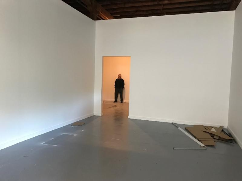 Bruno David in his empty Grand Center gallery