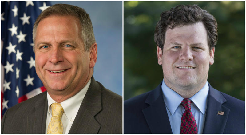 Republican Mike Bost, left, and Democrat C.J. Baricevic are the main party candidates for the Illinois 12th Congressional District seat.