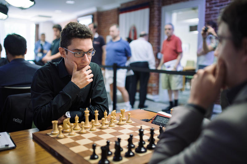 Fabiano Caruana is now based in St. Louis. Here is playing during the 2016 Sinquefield Cup.