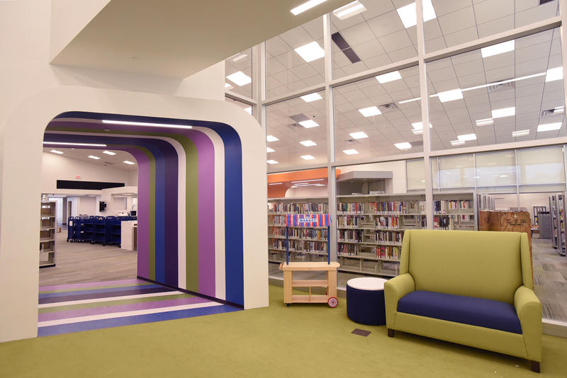 The Cliff Cave branch of the St. Louis County Library system reopened on Sept. 21, 2016, after renovation work. That included the children's area, pictured here.