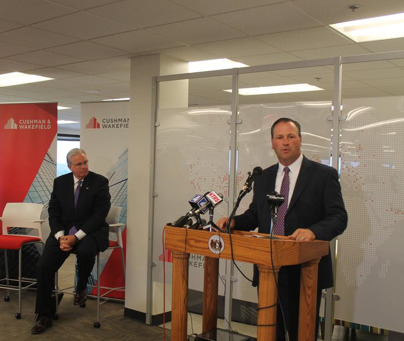 Brian Ungles of Cushman & Wakefield announces expansion on Friday, Oct. 14, 2016