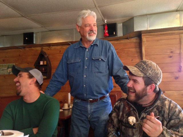John Jones, Steve Foster and Johnny Morgan at Feller's Family Restaurant, Willow Springs, Mo.