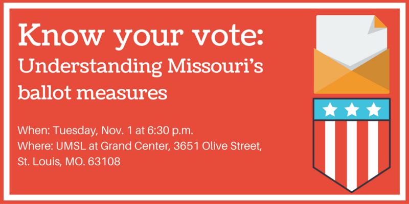 Join St. Louis on the Air host Don Marsh for a town hall event on Tuesday, Nov. 1 to discuss four of Missouri's most contested ballot measures.