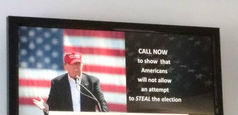 The Great America PAC, a super PAC supporting Donald Trump, is airing a TV ad encouraging his supporters to express their worries about a rigged election.