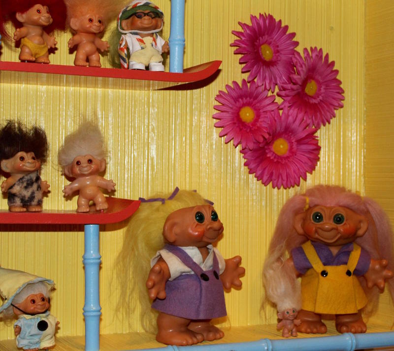 These Trolls didn't hang out on the internet. Part of a toys exhibit at the Missouri History Museum opening Oct. 29, 2016.