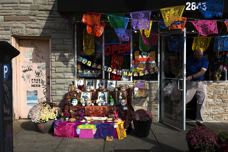 The owners of Diana's Bakery, at 2843 Cherokee, set up a Día de los Muertos altar honoring Mexican celebrities.