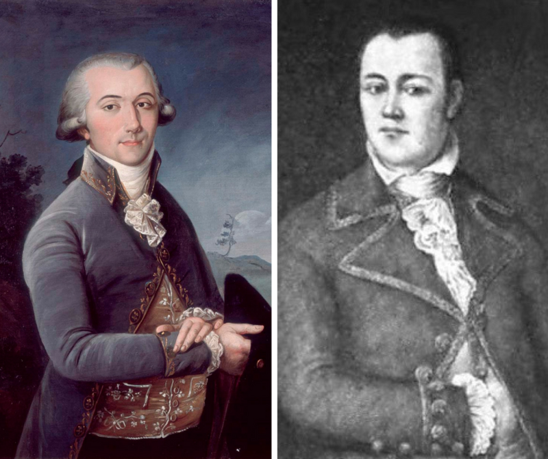 Pierre Laclède and Auguste Chouteau are credited with the founding of St. Louis in 1764.