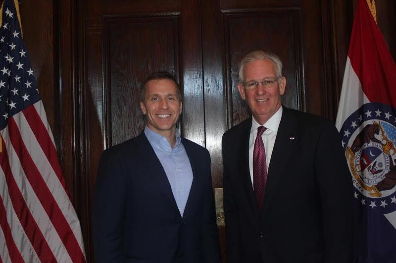 Gov.-elect Eric Greitens and Gov. Jay Nixon talked about transition on Nov. 10, 2016