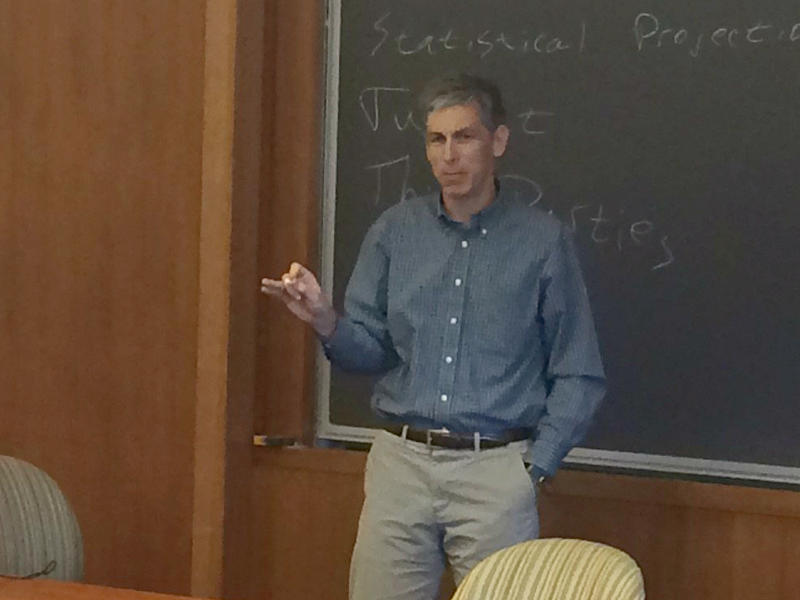 Washington University Professor Peter Kastor teaches his freshman politics seminar on Thursday, Nov. 10, 2016