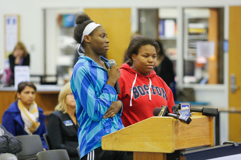 During a Nov. 15 Ladue school board meeting, Tajah Walker discussed being the victim of racist harassment at Ladue Horton Watkins High School.