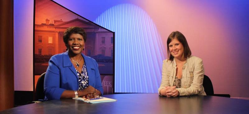 "In 2013, HEC-TV producer Amanda Honingfort interned with Gwen Ifill on ""Washington Week."""