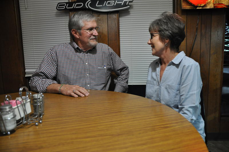 Charles and Doris Lehman, of Sparta, Illinois,  at the Pour House bar in Marissa, Illinois. (Nov. 1, 2916)