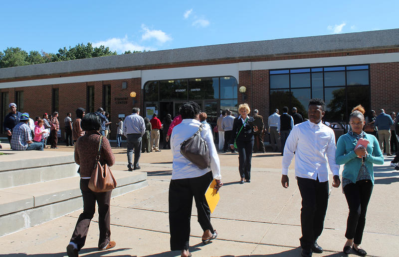 A 2014 job fair hosted by the Urban League brought a big turnout to the St. Louis Community College Florissant Valley campus on Sept. 14, 2014.
