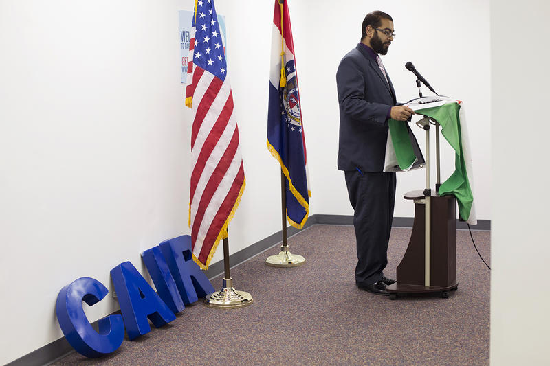 Faizan Sayed, executive director of Missouri's branch of the Council on American Islamic Relations, organized a news conference to speak out against current events in Syria.