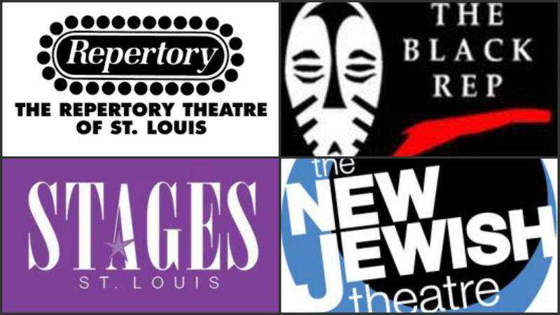 These are the undated logos for The Rep, the Black Rep, Stages and New Jewish theater companies.