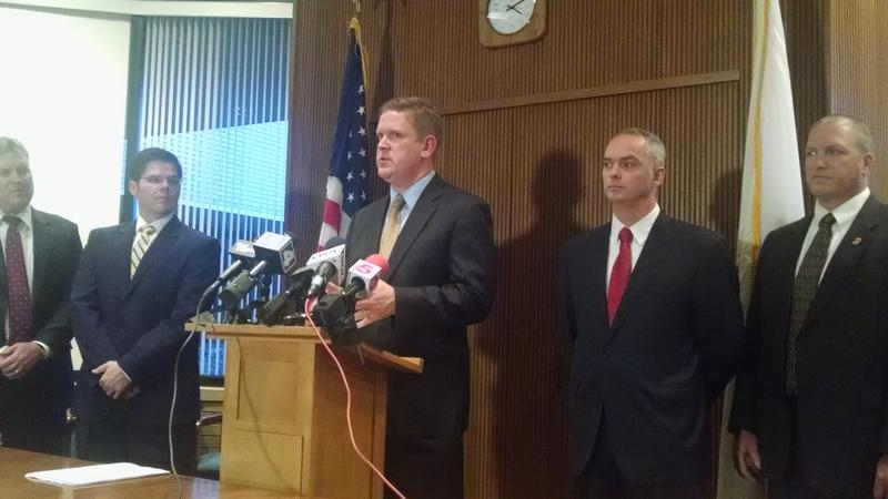 St. Clair County State's Attorney Brendan Kelly annouces the results of Operation Watchtower, a state and federal task force