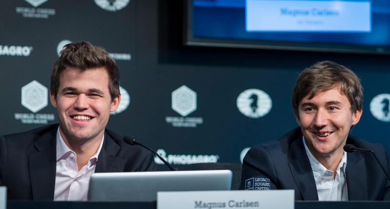 Norwegian Magnus Carlsen was challenged by Russia's Sergey Karjakin